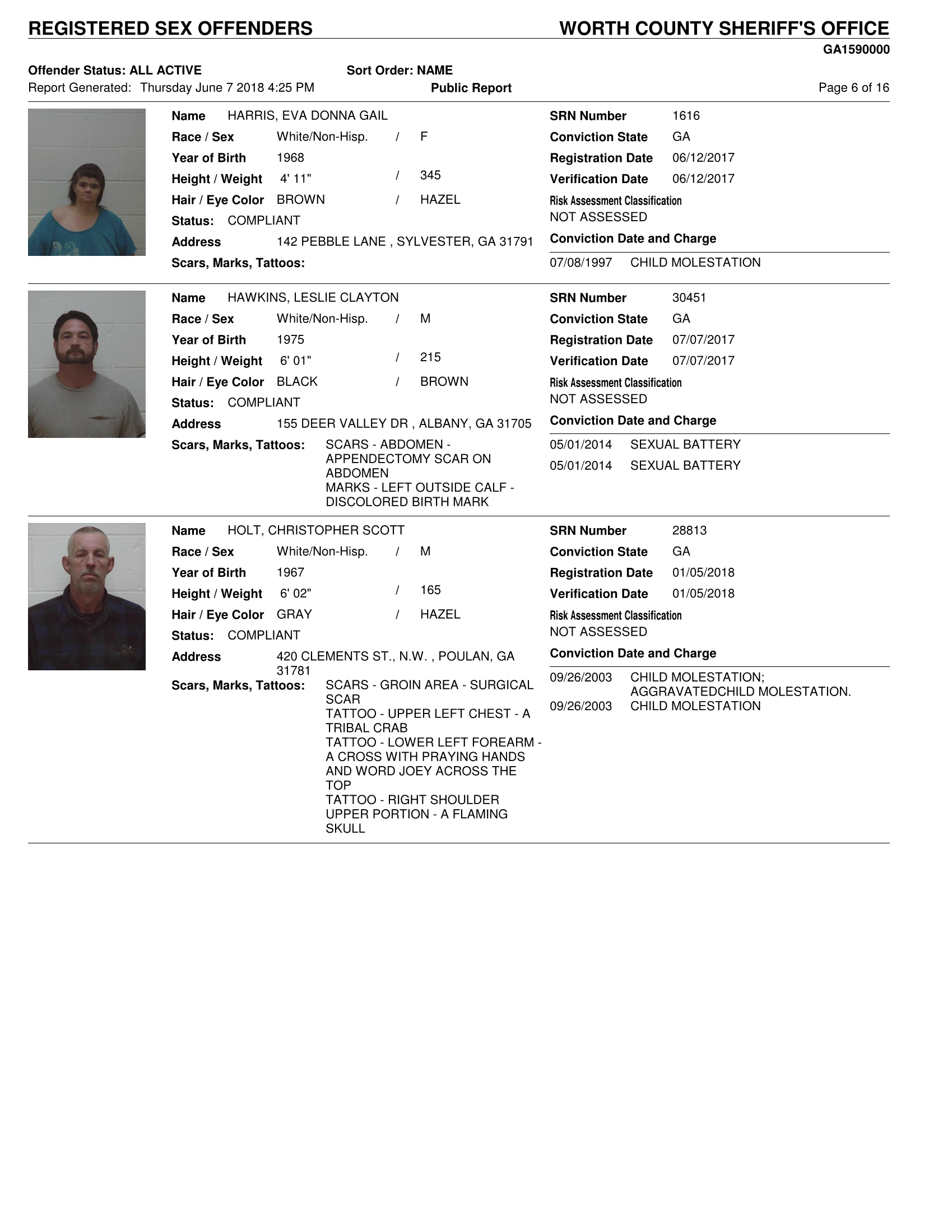 King country registered sex offender list