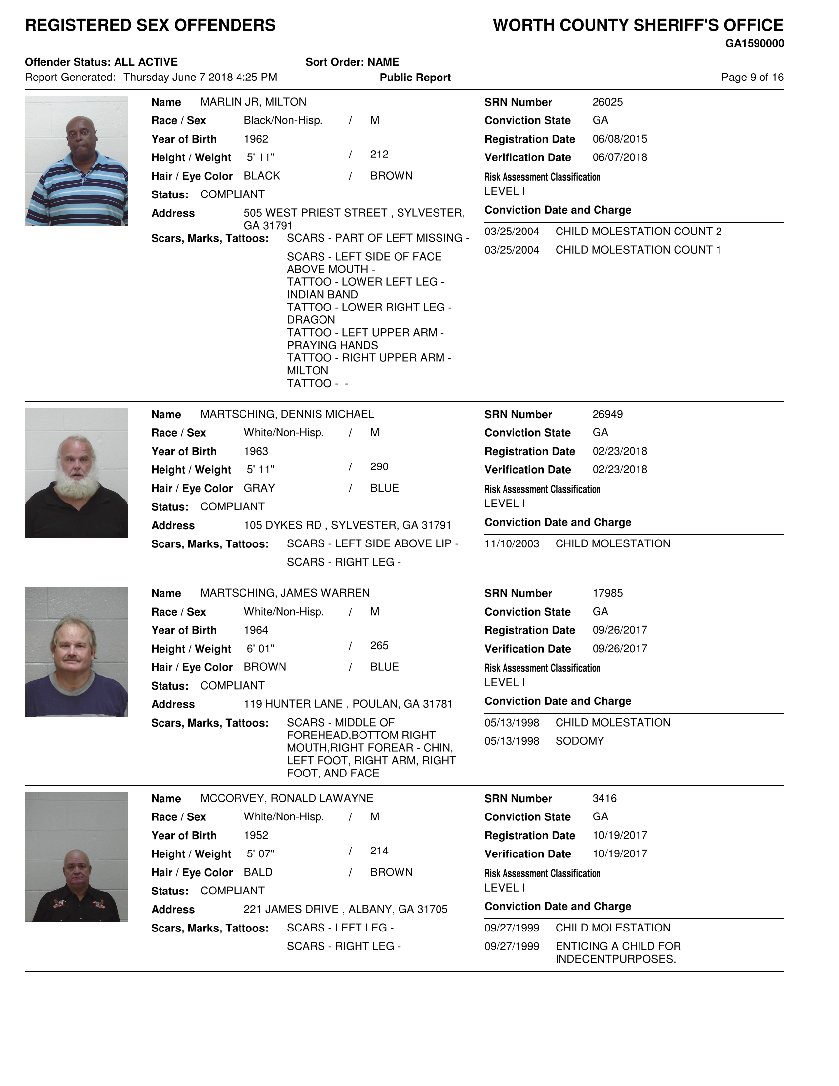 forsyth county sex offenders list